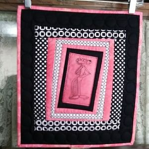 Pink Panther Quilted Wall Hanging